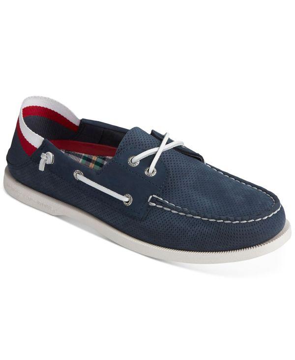 送料無料 サイズ交換無料 スペリー メンズ シューズ デッキシューズ Navy スペリー メンズ デッキシューズ シューズ Men's A/O 2-Eye Kick Down Lead Boat Shoes Navy
