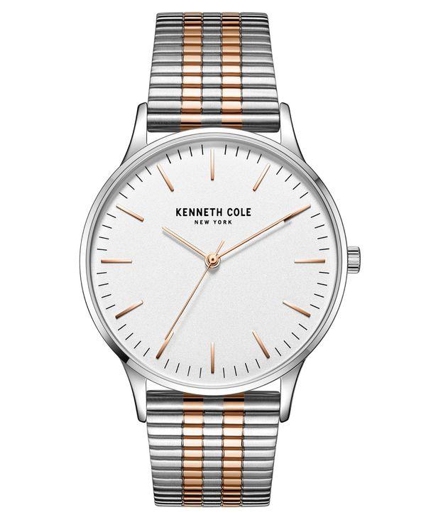 『2年保証』 ケネスコール メンズ 腕時計 アクセサリー Men's 3 40mm Hands Silver-tone メンズ Stainless Tone Steel Watch on Two-tone Stainless Steel Mesh Bracelet 40mm Two Tone, 花のはんこ屋 大谷印舗:8acd217f --- hi-tech-automotive-repair.demosites.myshopmanager.com