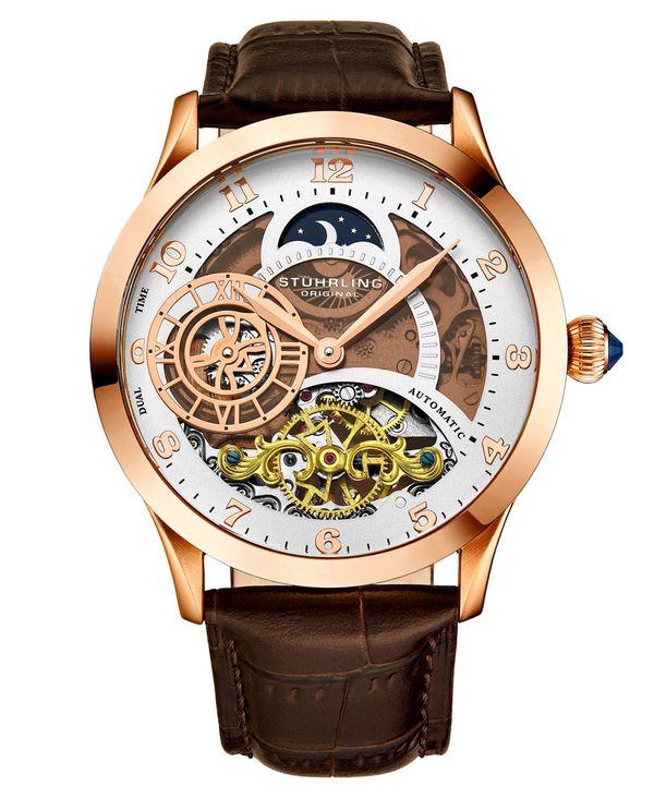 送料無料 サイズ交換無料 ストゥーリング メンズ アクセサリー 大放出セール 腕時計 Watch Strap Leather 44mm バーゲンセール Brown Men's