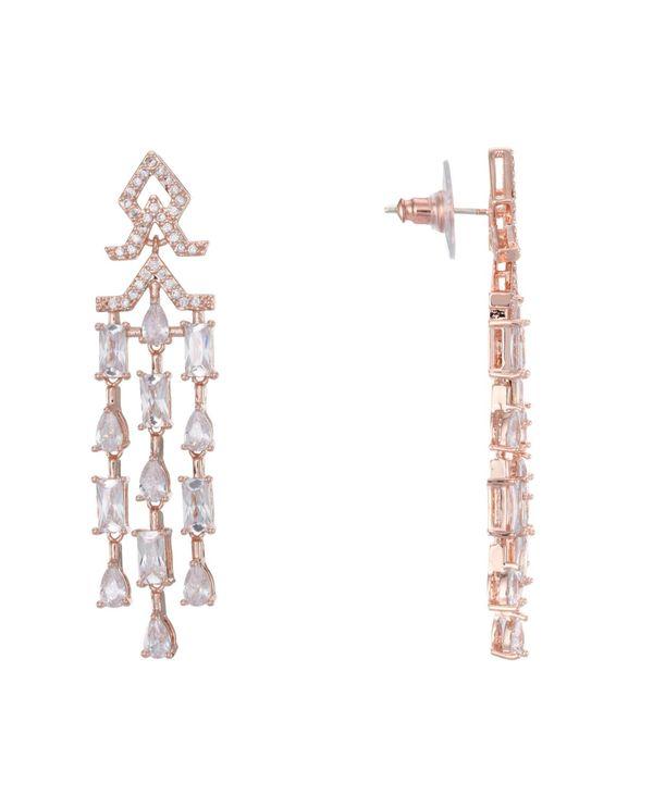 送料無料 サイズ交換無料 ニナ レディース 期間限定 アクセサリー ピアス イヤリング Rose Mini Chandelier Zirconia Cubic Earrings Gold 日本未発売