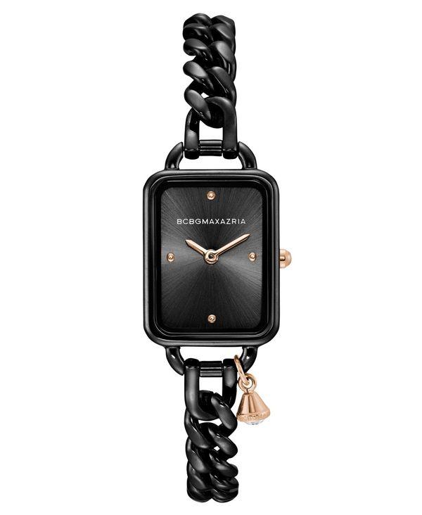 低価格で大人気の ビーシービージーマックスアズリア レディース 腕時計 15mm アクセサリー Ladies Rectangle Ladies Black Stainless 21mm Steel Chain Bracelet with Rose Goldtone Crystal Charm Watch 15mm x 21mm Black, HoneyDo:ce5e3001 --- hi-tech-automotive-repair.demosites.myshopmanager.com