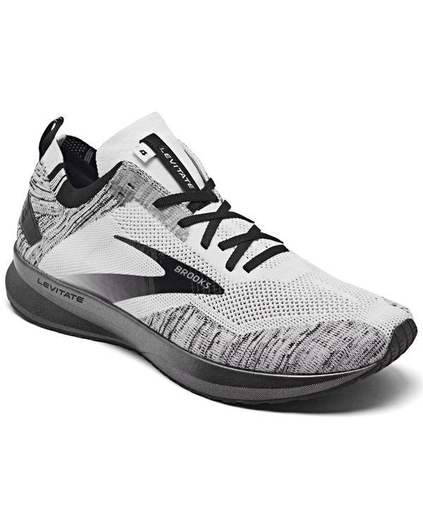 送料無料 サイズ交換無料 ブルックス メンズ シューズ スニーカー White Black 4 Running 上品 Men's from Sneakers Levitate 輸入 Line Finish