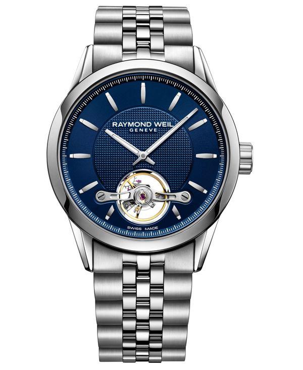 送料無料 サイズ交換無料 レイモンド ウィル お求めやすく価格改定 メンズ アクセサリー 腕時計 Silver Men's Steel Automatic Stainless Freelancer Bracelet Swiss 42mm 最新号掲載アイテム Watch