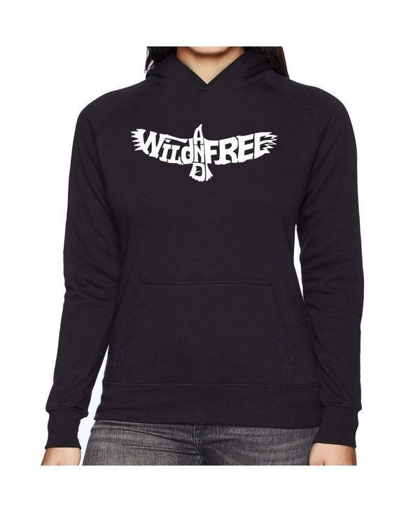 当店の記念日 エルエーポップアート レディース And パーカー Eagle・スウェット アウター Women's Art Word Art Hooded Sweatshirt -Wild And Free Eagle Black, ゴルフライン:ad728de1 --- coursedive.com