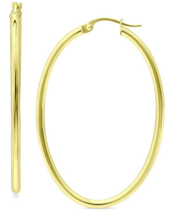 送料無料 サイズ交換無料 ジャーニ ベルニーニ レディース アクセサリー ピアス イヤリング Gold Over Silver Medium 18K in Hoop 1-1 Skinny 8 Earrings Oval Gold-Plated or Sterling 高品質新品 大注目