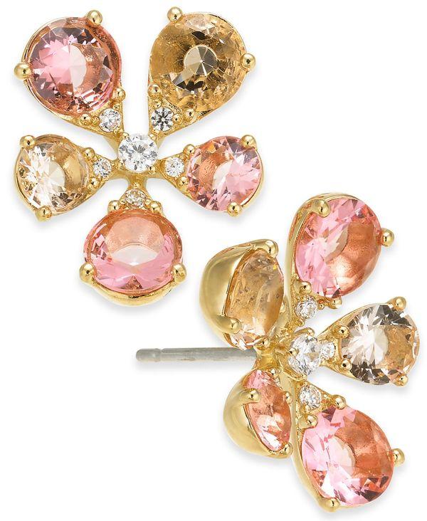 送料無料 サイズ交換無料 エリオット ダノリ 国内在庫 レディース アクセサリー ピアス Flower Stud 正規品 Cubic Pink Zirconia イヤリング Earrings