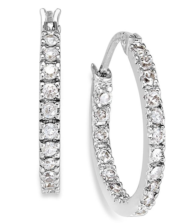 送料無料 サイズ交換無料 ジャーニ ベルニーニ レディース アクセサリー ピアス イヤリング Sterling Silver t.w. 0.6 Earrings 4 Cubic 数量限定 Small ct. Zirconia 3 お買い得品 Hoop