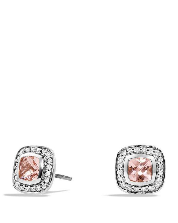 【ラッピング不可】 デイビット・ユーマン レディース Earrings ピアス・イヤリング and アクセサリー Petite Pink/Silver Albion Earrings with Morganite and Diamonds Pink/Silver, パティエ:2adfa0de --- fotostrba.sk