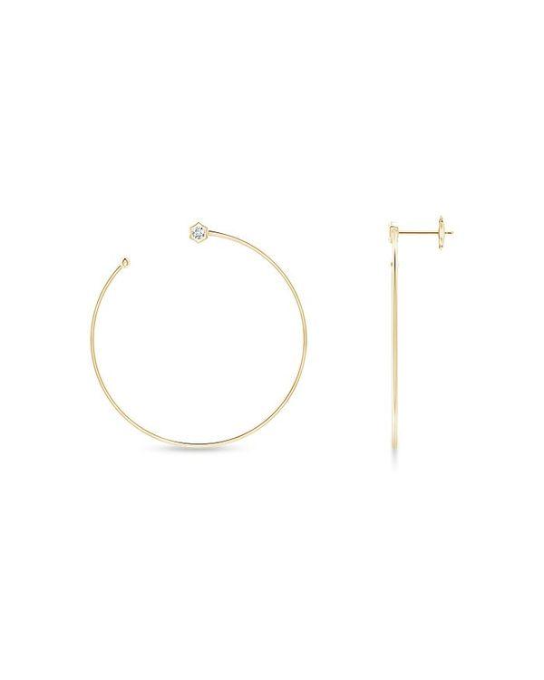 非売品 ナトリ レディース Yellow ピアス・イヤリング アクセサリー Natori 14K 14K Yellow Gold Gold Indochine Diamond Medium Hexagon Open Side-Facing Hoop Earrings Yellow Gold, オーダーメイド棚板FUNAKI:84b02340 --- online-cv.site