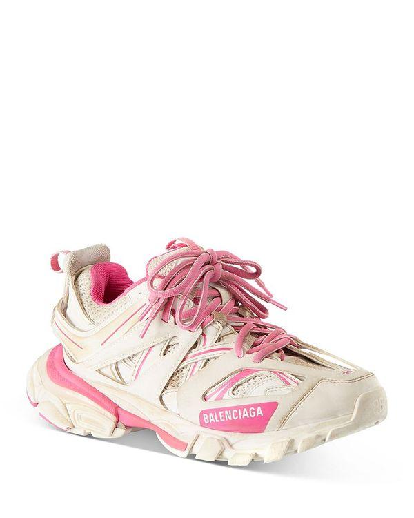 人気 バレンシアガ レディース スニーカー シューズ White/Pink Women's Women's Low Track Low Top Sneakers White/Pink, きものの美 ゆたかや:5a387cae --- irecyclecampaign.org