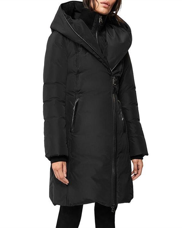品質が マッカージュ レディース ジャケット・ブルゾン アウター Kay Asymmetric Hooded Coat Black, ギアムーブ d2a37200