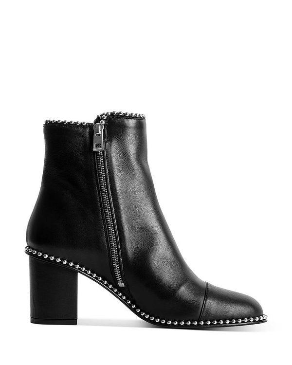 最新コレックション ザディグ エ ヴォルテール レディース Mid ブーツ エ・レインブーツ シューズ レディース Women's Lena Mid Heel Leather Ankle Boots Noir Studded, 素敵な:de2a2f4d --- heathtax.com
