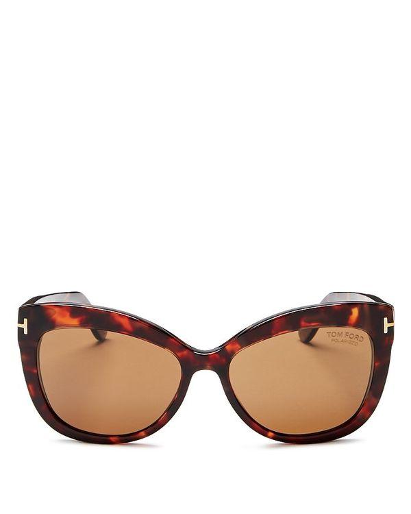 【祝開店!大放出セール開催中】 トム・フォード レディース サングラス レディース・アイウェア アクセサリー Women's Allistair Cat Oversized Red Polarized Cat Eye Sunglasses 56mm Red Havana/Brown Polarized, バッテリーストア.com:331007d0 --- unlimitedrobuxgenerator.com