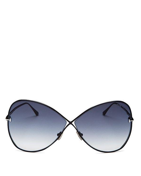 超人気新品 トム・フォード レディース サングラス レディース 66mm・アイウェア アクセサリー アクセサリー Women's Butterfly Sunglasses 66mm shiny black/ gradient smoke, ネットショップカズ:ed482789 --- supernovahol.online