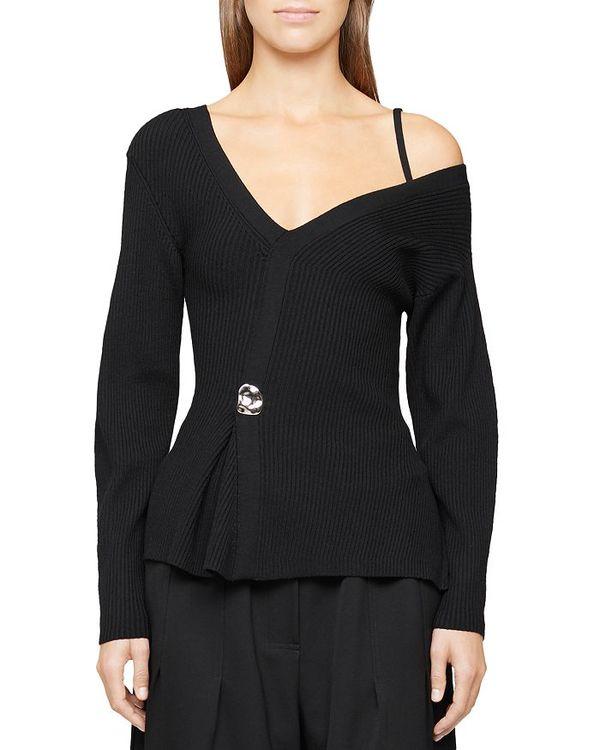 【即納】 スリーワンフィリップリム Wool レディース ニット・セーター Black アウター Merino Sweater Wool Off-the-Shoulder Sweater Black, 鍵屋B.B:9bc0e8d5 --- gerber-bodin.fr