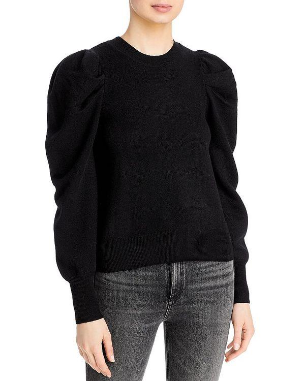 送料無料 サイズ交換無料 アクア レディース アウター パーカー・スウェット Black アクア レディース パーカー・スウェット アウター Puff Sleeve Sweater - 100% Exclusive Black