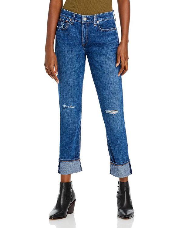 ボトムス レディース Dre デニムパンツ ラグアンドボーン Mission With Missionwhl in Holes Miss Low-Rise Jeans