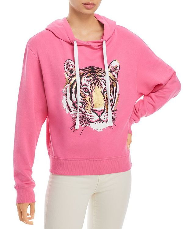 Print Hot トップス Hoodie Pink シャツ チアリーダー レディース Tiger