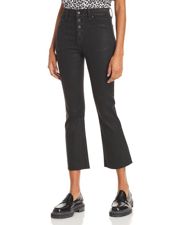 ピストーラ レディース デニムパンツ ボトムス Lennon High Rise Cropped Jeans in Coated Black Coated Black