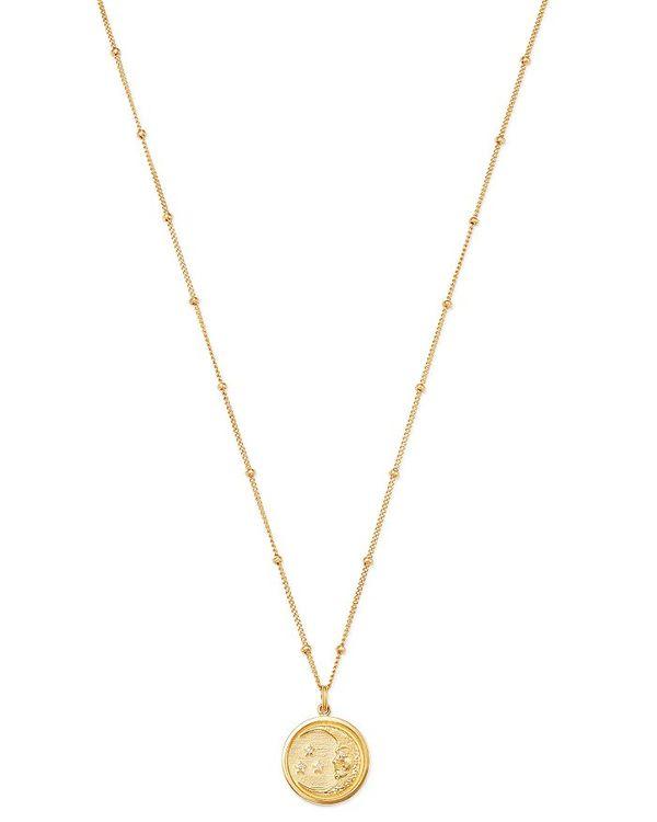 気質アップ ゾエレフ レディース ネックレス・チョーカー・ペンダントトップ アクセサリー 14K Yellow Gold Moon アクセサリー Medallion Diamond Moon Medallion Necklace 18 White/Gold, 人気沸騰ブラドン:ef461d4f --- beautyflurry.com