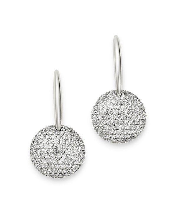 大勧め ロバートコイン レディース ピアス・イヤリング アクセサリー 18K White Gold Fantasia Diamond Round Drop Earrings White, 日本通販ショッピング 139c4274