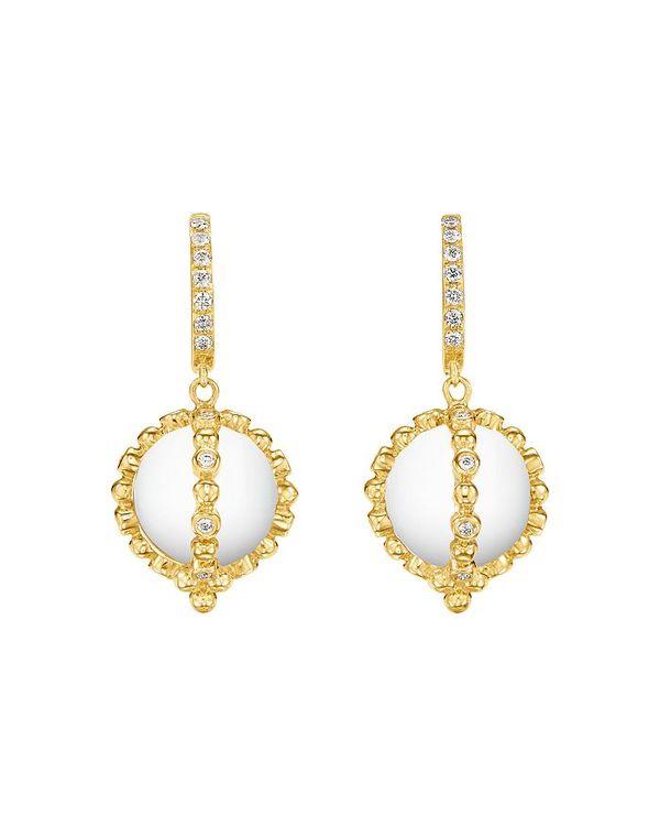 熱販売 テンプル セント クレア レディース ピアス・イヤリング アクセサリー 18K Yellow Gold Celestial Rock Crystal & Diamond Sassini Amulet Earrings White/Gold, ラランセ e4bf8a04