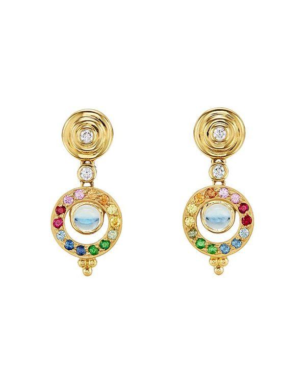 55%以上節約 テンプル セント クレア レディース ピアス・イヤリング アクセサリー 18K Yellow Gold Celestial Double Tolomeo Drop Earrings with Rainbow Gemstones & Diamonds Multi/Gold, 保原町 77659917