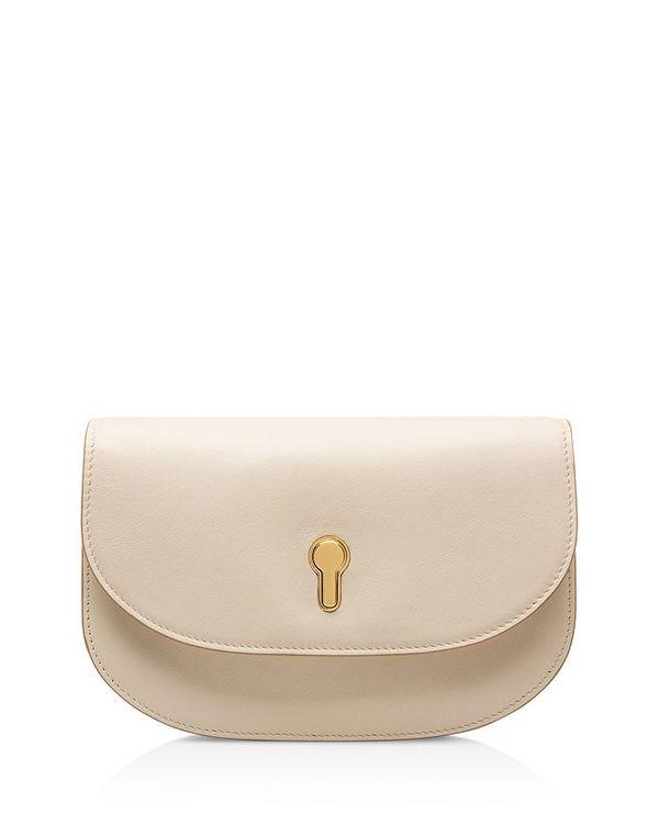 バリー レディース ショルダーバッグ バッグ Clio Mini Leather Convertible Crossbody Bag Bone/Gold