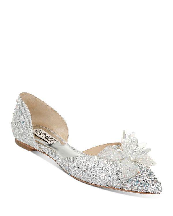 バッジェリーミシュカ レディース パンプス シューズ Women's Haddie Embellished d'Orsay Flats Silver Glitter