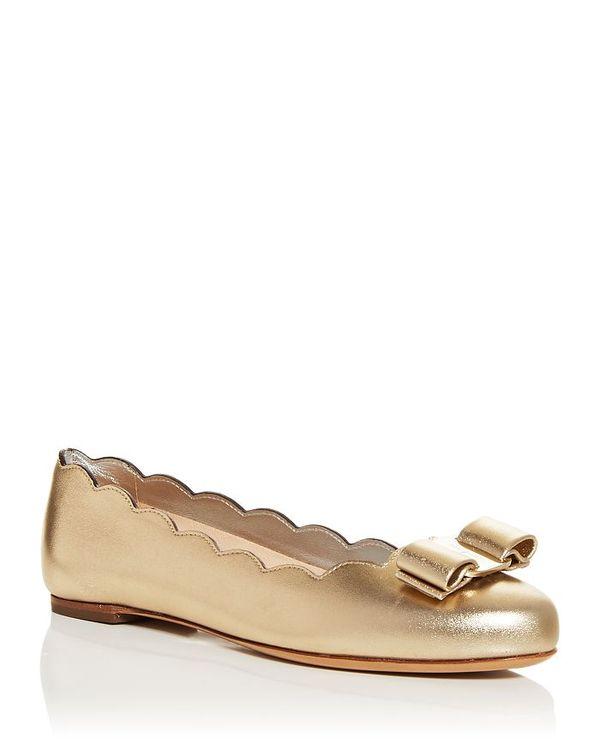 【高い素材】 サルヴァトーレ Ballet フェラガモ Scalloped レディース パンプス Mekong シューズ Women's Varina Scalloped Ballet Flats Mekong, ゴルフマルシェ:e3f4912d --- themezbazar.com