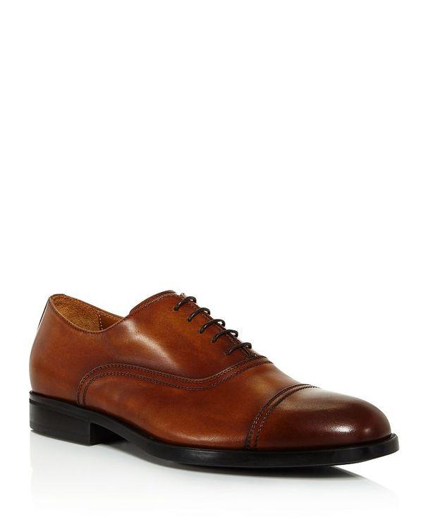 【セール 登場から人気沸騰】 ブルーノマグリ メンズ オックスフォード シューズ Men's Butler Leather Cap-Toe Oxfords Cognac, 輸入生地のENOP WISE 936e581b