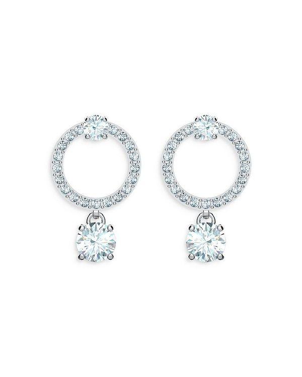 アクセサリー Circle White レディース / Attract Drop ピアス・イヤリング Earrings Clear スワロフスキー