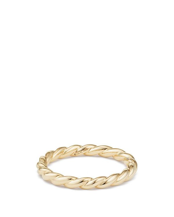 デイビット・ユーマン レディース 指輪 アクセサリー Paveflex Ring in 18K Gold Gold