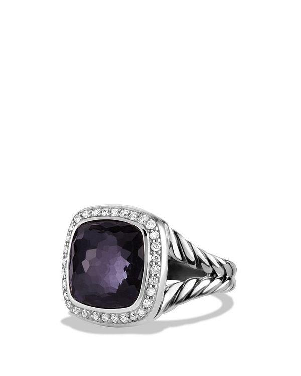 送料無料 サイズ交換無料 デイビット ユーマン レディース アクセサリー 指輪 Albion Orchid Ring Diamonds Black with 祝開店大放出セール開催中 公式 Gemstones