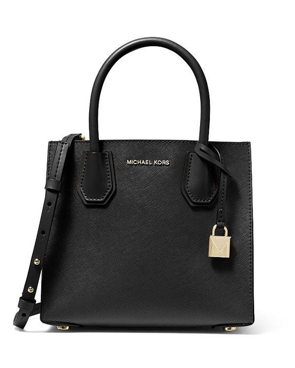 マイケルコース レディース ハンドバッグ バッグ Mercer Medium Leather Messenger Bag Black