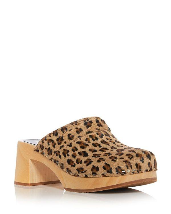 スウェディッシュハズビーンズ レディース サンダル シューズ Women's Dagny Platform Clogs Leopard