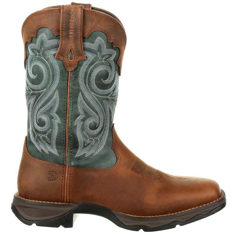 Evergreen ブーツ・レインブーツ ドゥランゴ レディース Boots Toe Cowboy Brown Square Lady Rebel シューズ