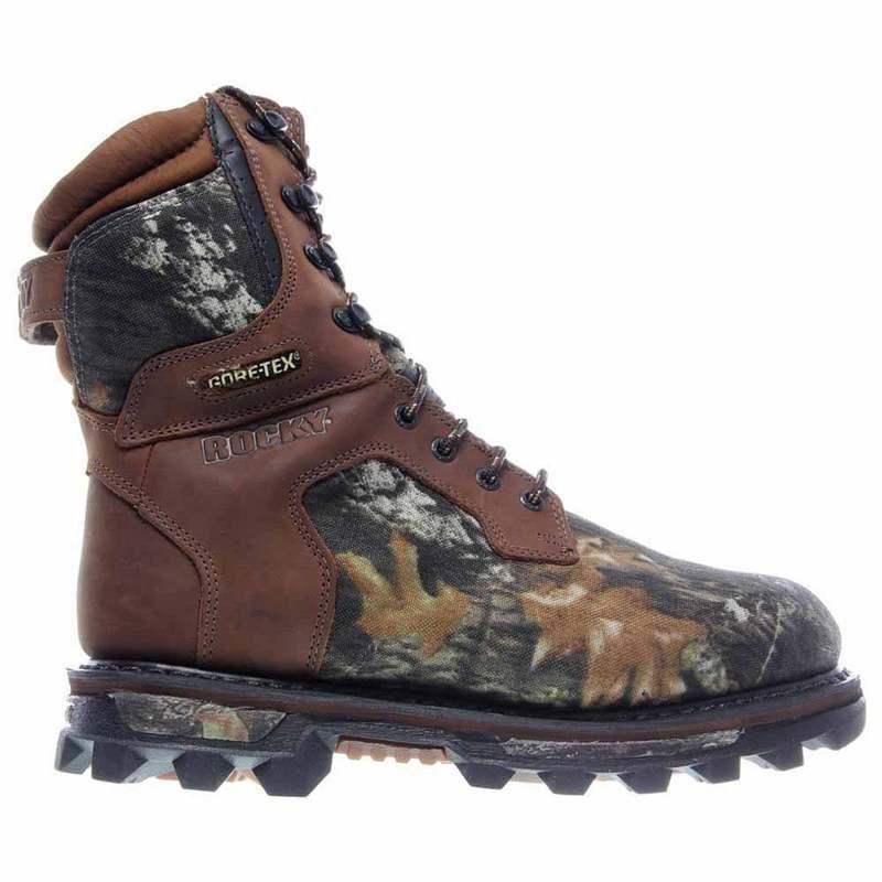 送料無料 サイズ交換無料 ロッキー メンズ シューズ ブーツ お洒落 レインブーツ 期間限定今なら送料無料 Moss Oak Insulated Boots Bearclaw3D Gore-Tex Waterproof 9 inch Hunting ATM