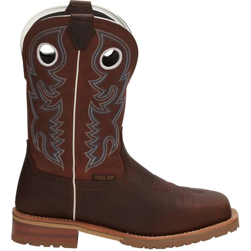 送料無料 サイズ交換無料 ジャスティン メンズ 特別セール品 シューズ ブーツ レインブーツ 爆売り brown On Toe Steel Marshal EH Boots Pull