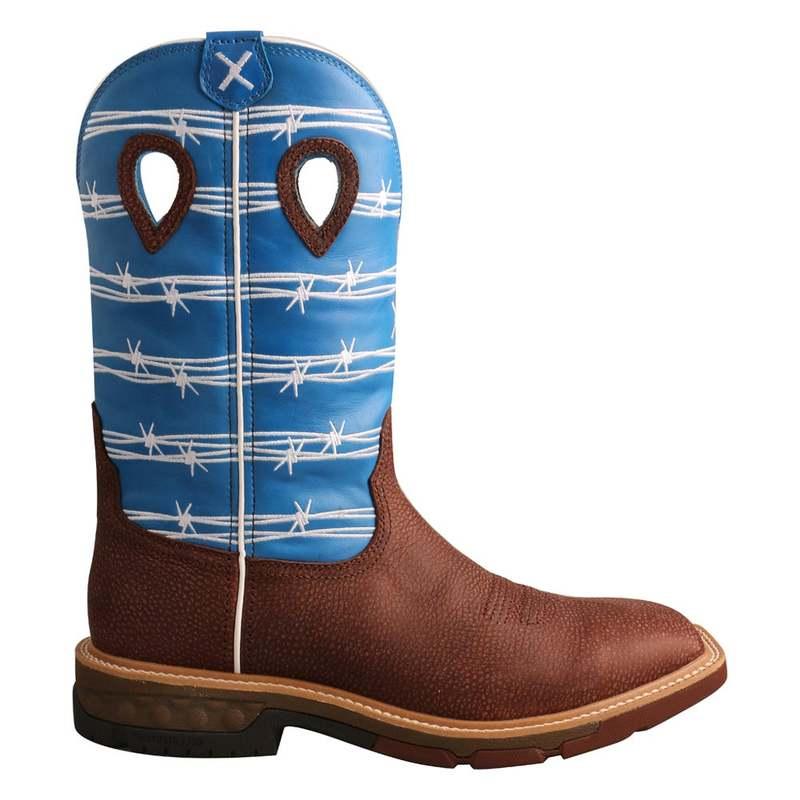 送料無料 サイズ交換無料 ツイステッドエックス メンズ 2020 シューズ ブーツ レインブーツ Toe Brown 新作多数 Work Alloy Boot Western