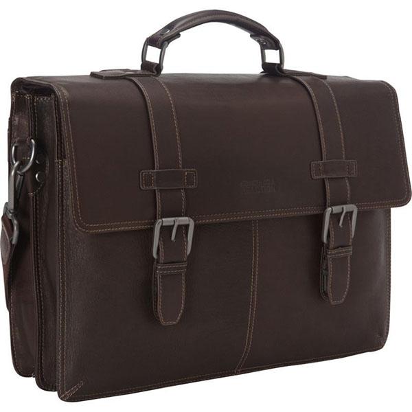 ケネスコール メンズ ハンドバッグ バッグ Flap-py Go Lucky Laptop Briefcase Brown