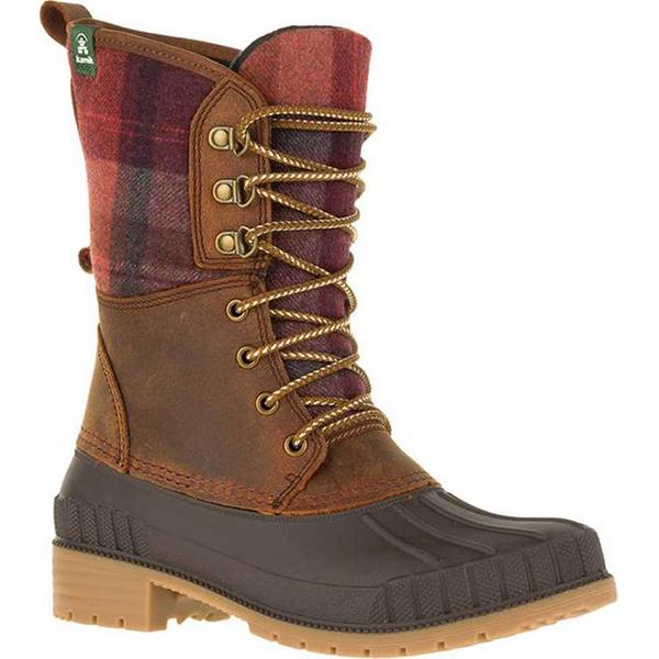 カミック レディース ブーツ・レインブーツ シューズ Sienna 2 Ankle Boot Dark Brown Flannel/Leather