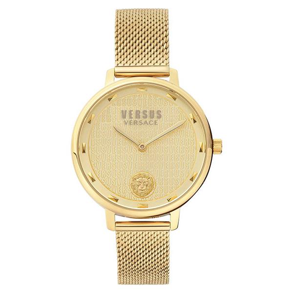 ヴェルサス ヴェルサーチ レディース 腕時計 アクセサリー VERSUS Versace La Villette Mesh Strap Watch, 36mm Gold