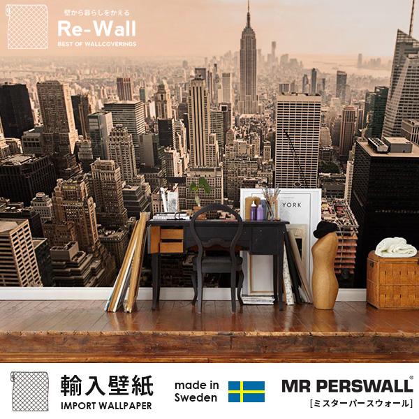 輸入壁紙 スウェーデン製 MR PERSWALL NewYork Memories ミスターパースウォール 貼ってはがせる壁紙 DIY 壁紙 賃貸 壁紙 おしゃれ フリースデジタルプリント壁紙 フリース壁紙 不織布デジタルプリント壁紙 不織布壁紙