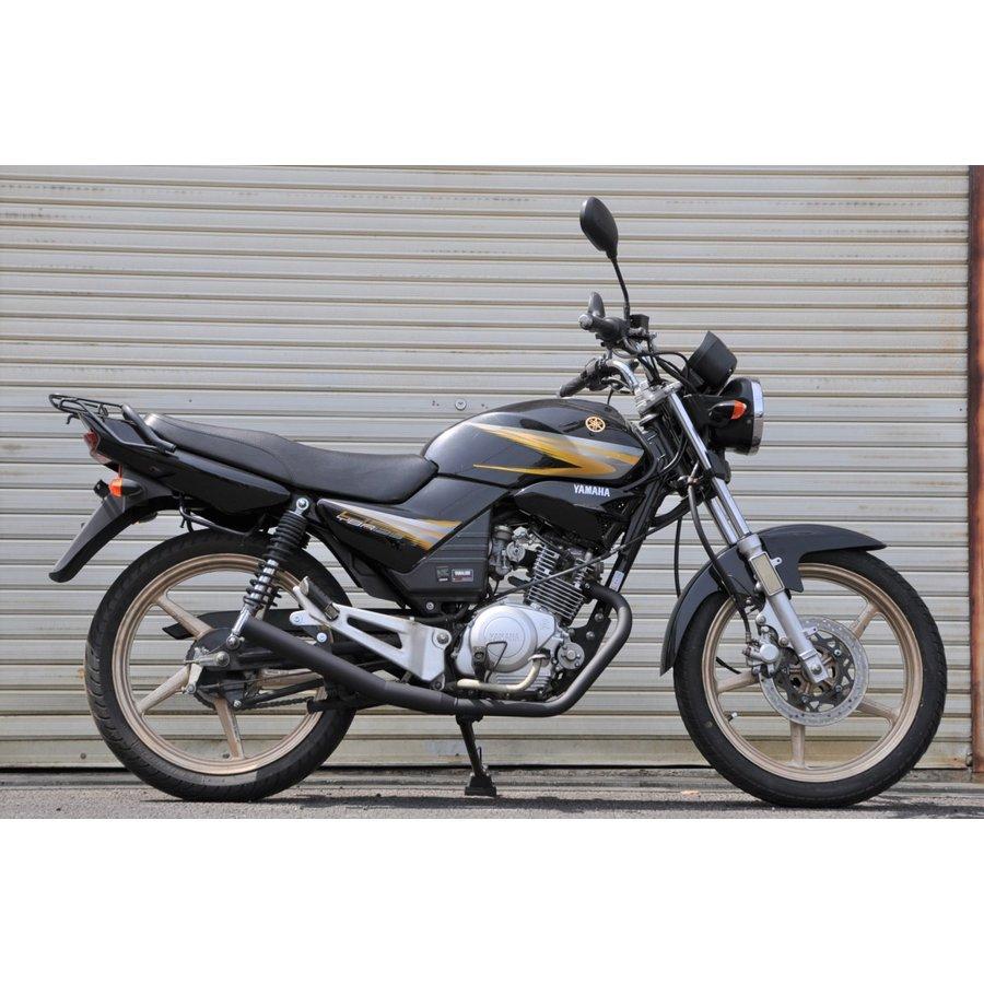 ヤマハ YB125 プレゼント YBR125 バイクマフラーです 弾丸 バイクマフラー バッフル着脱可能 現品 ブラックカラー ショート