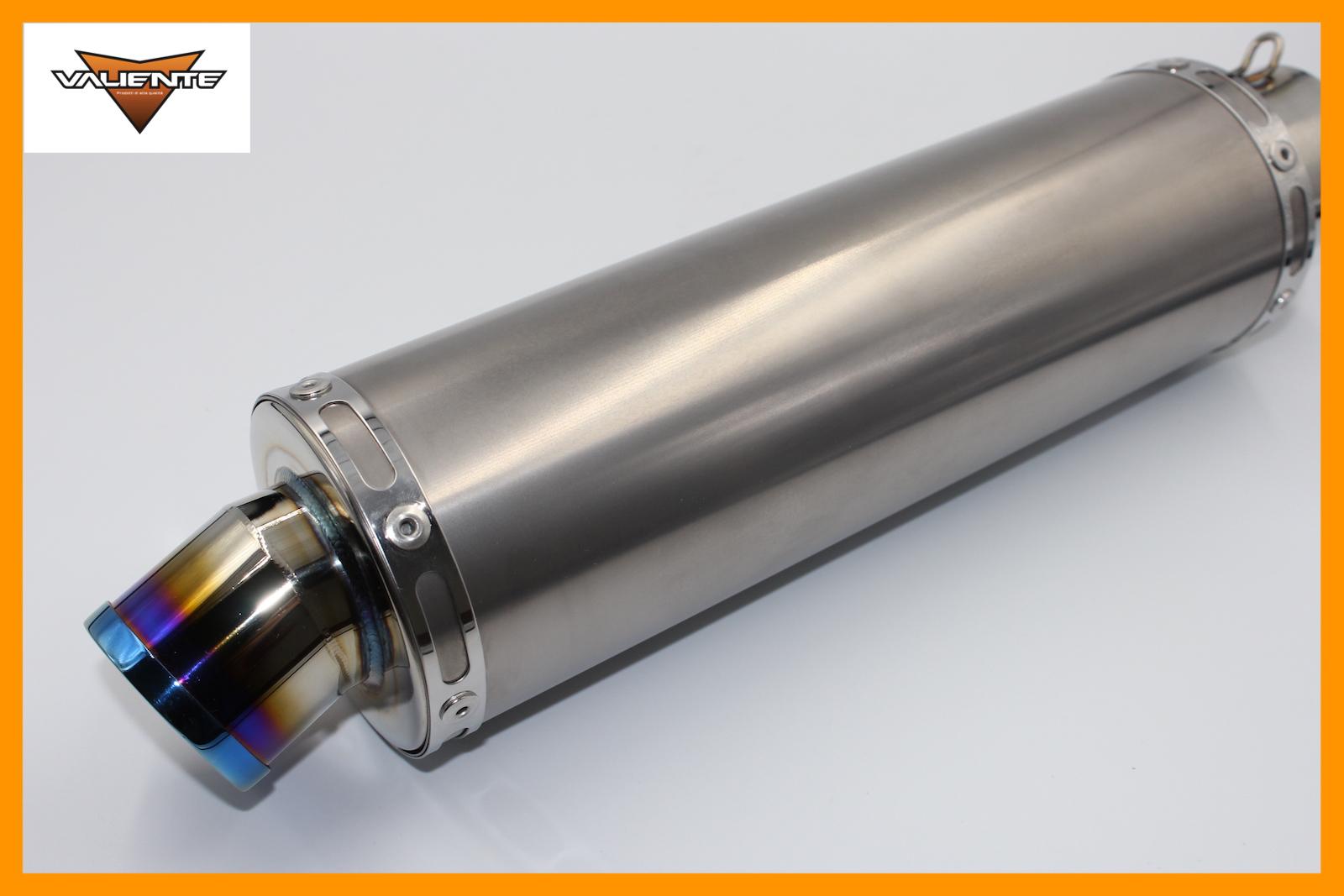 汎用チタンサイレンサー 正規激安 60.5Φ用です Valiente バリエンテ 90Φ×300mm ブルーカラー バイクマフラー 2020A/W新作送料無料 60.5Φ用