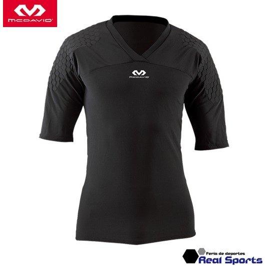 肩周辺をプロテクトするショートスリーブ McDavid マクダビッド HEX GKシャツ 市販 ショートスリーブ ゴールキーパー用 インナー レアルスポーツ 美品 M7733