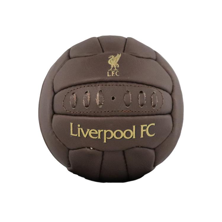 Liverpool FC 100%品質保証! Retro Heritage Mini Ball リバプール サッカーボール レザー オフィシャルグッズ ヘリテージ 中古 レアルスポーツ レトロミニボール