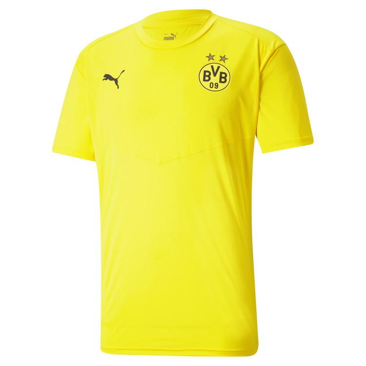 ボルシア ドルトムント BVB コレクション 《特価》PUMA 20 21 超目玉 サッカー 758586-01 プーマ ウォームアップ Tシャツ 爆買いセール レアルスポーツ