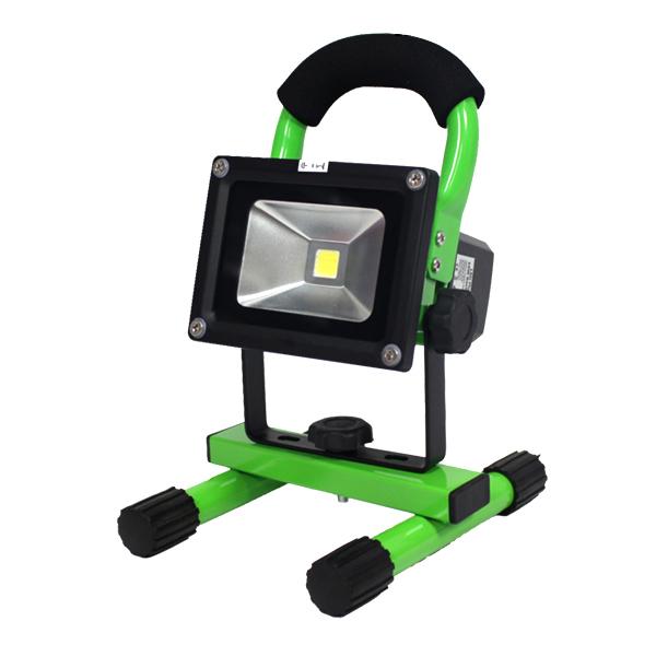 充電機能付◆10W SMD/LED 投光器 AC100V&DC12V/ 【送料無料】/###投光器TGD-10W緑☆###